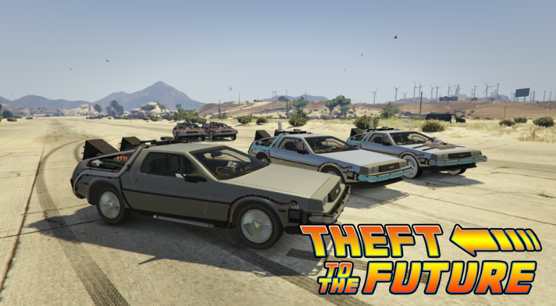 gta 5 delorean