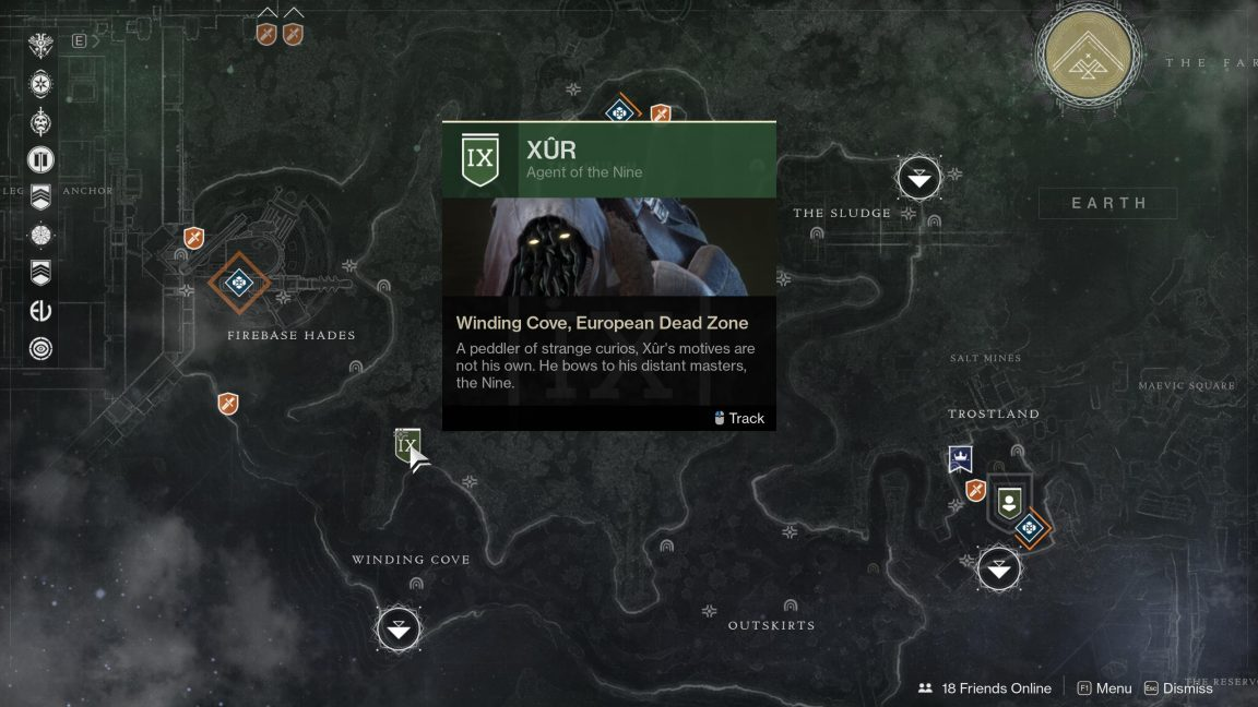 Xur Winding Cove EDZ