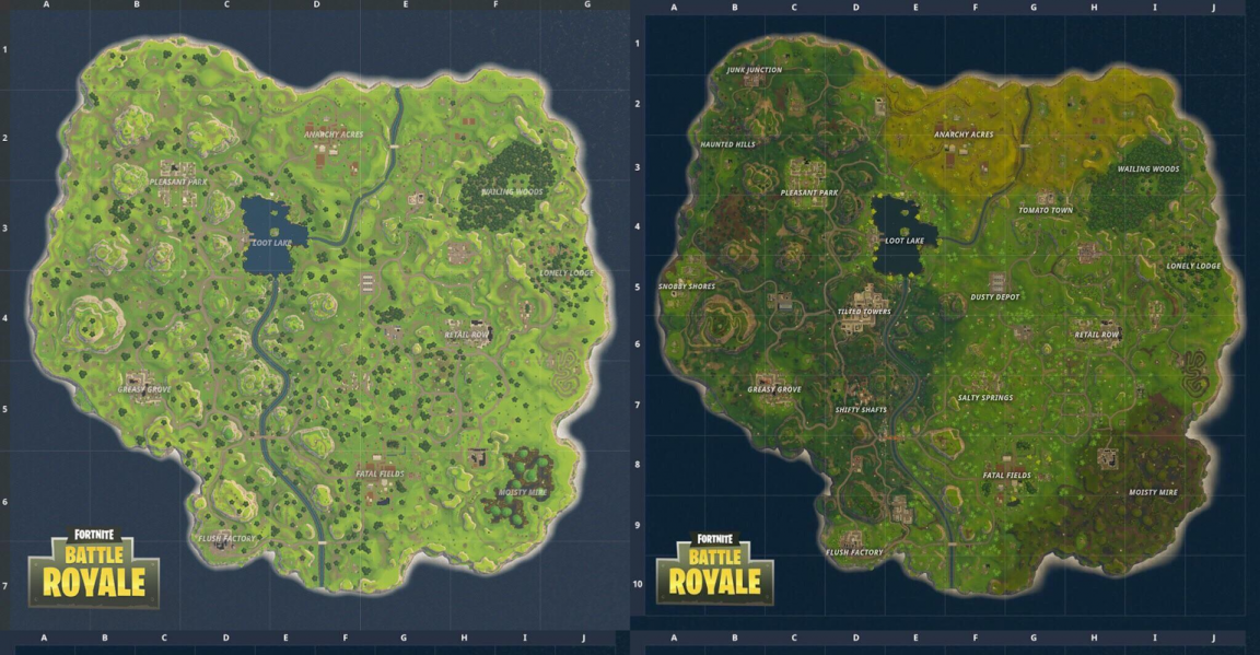 Fortnite S New Map Pushes Battle Royale To New Heights Vg247 Let's take a look at the new fortnite season 5 map in more detail: map pushes battle royale to new heights
