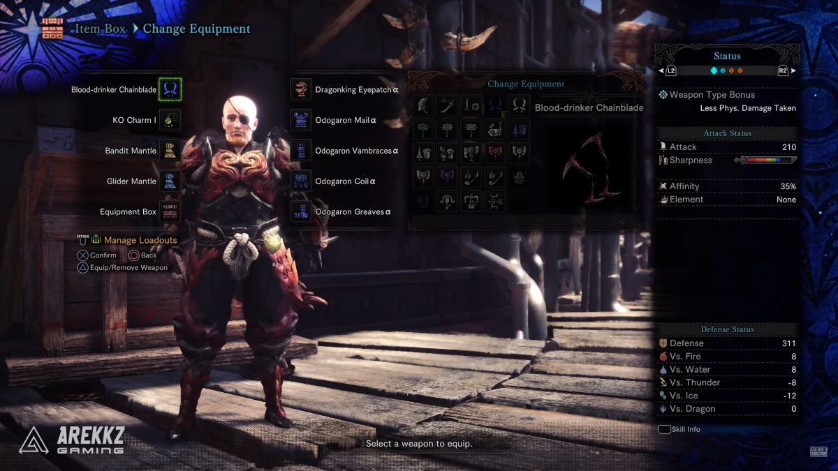 Monster Hunter World: the best high rank armor build - Odogaron