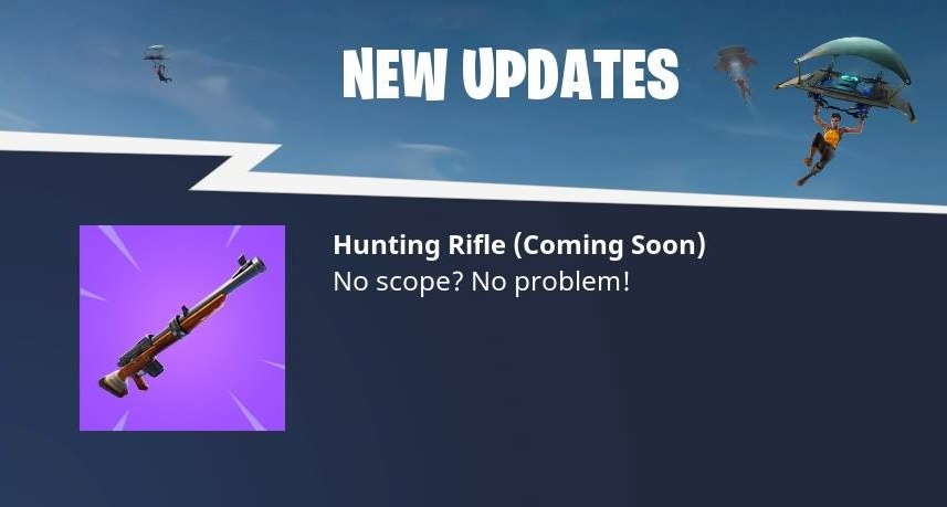 Fortnite's next weapon is the Hunting Rifle - VG247