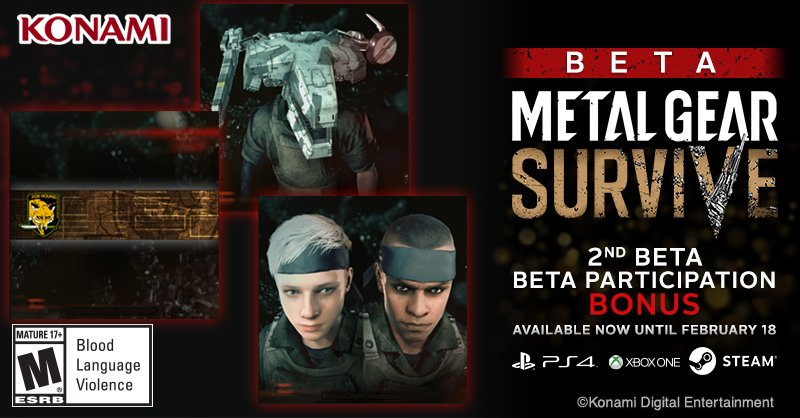 Second Metal Gear Survive Beta Will Run Next Weekend