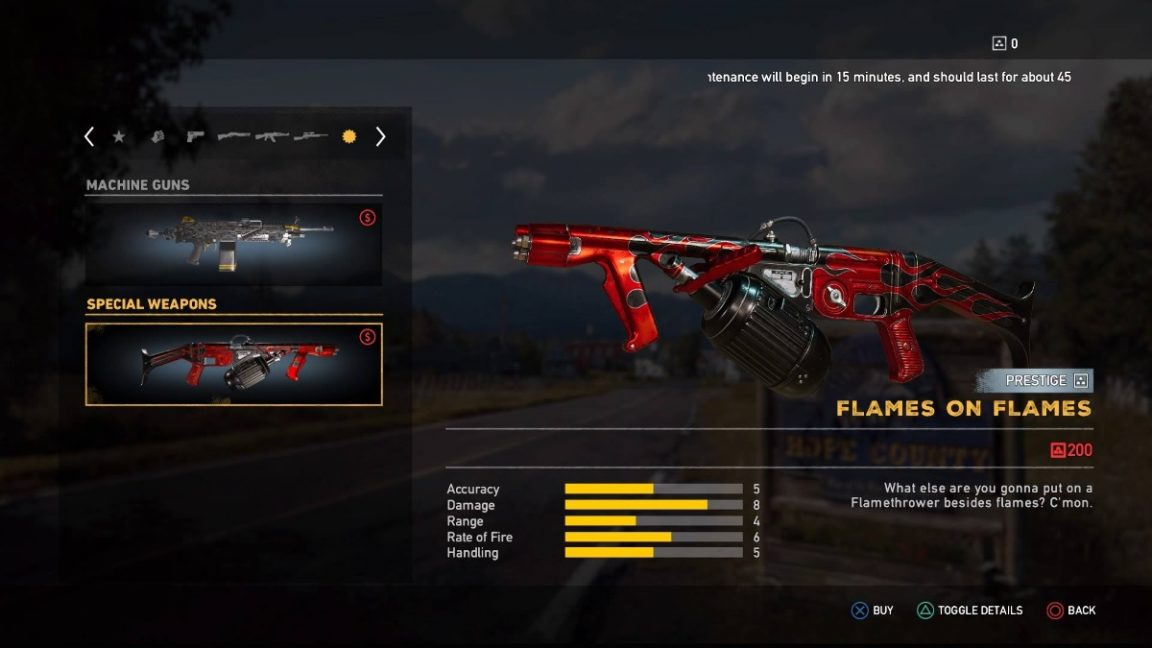 Far Cry 5 All Prestige Weapons And Car Skins And The Way A Lot They Price