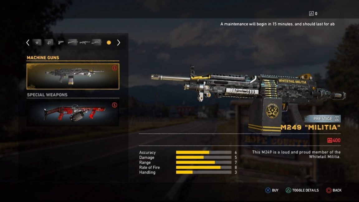 Far Cry 5 All Prestige Weapons And Vehicle Skins And How Much They Cost Vg247