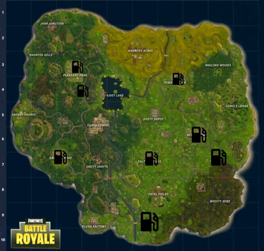Find A Gas Station >> Fortnite All Gas Station Locations Games Best Buy