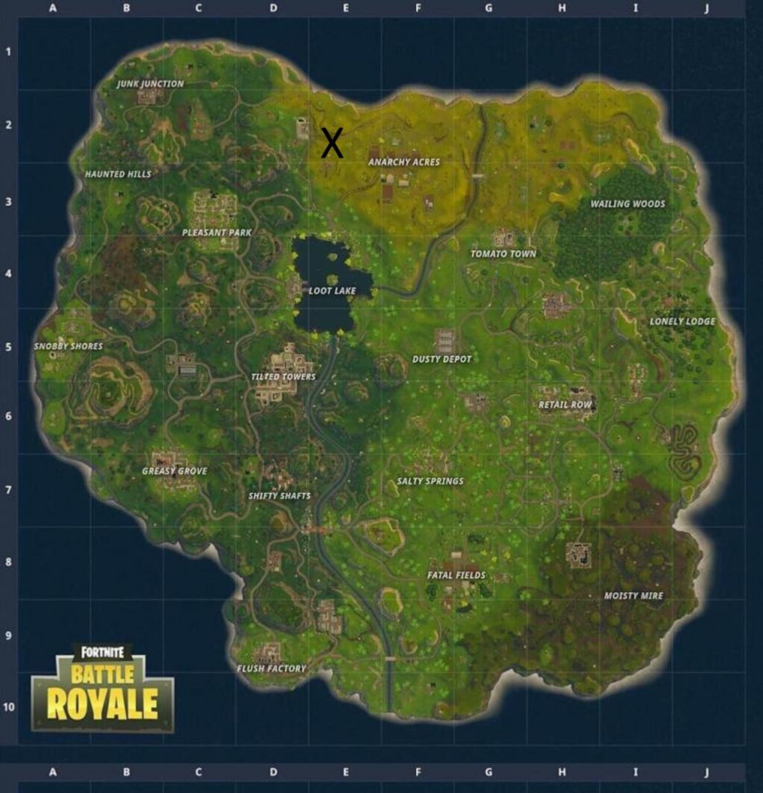 Fortnite Season 3 Week 2 Challenges All Forbidden Dance Areas - you re on the lookout for map location e2 or see the x on the map under the place you ll discover the battle star