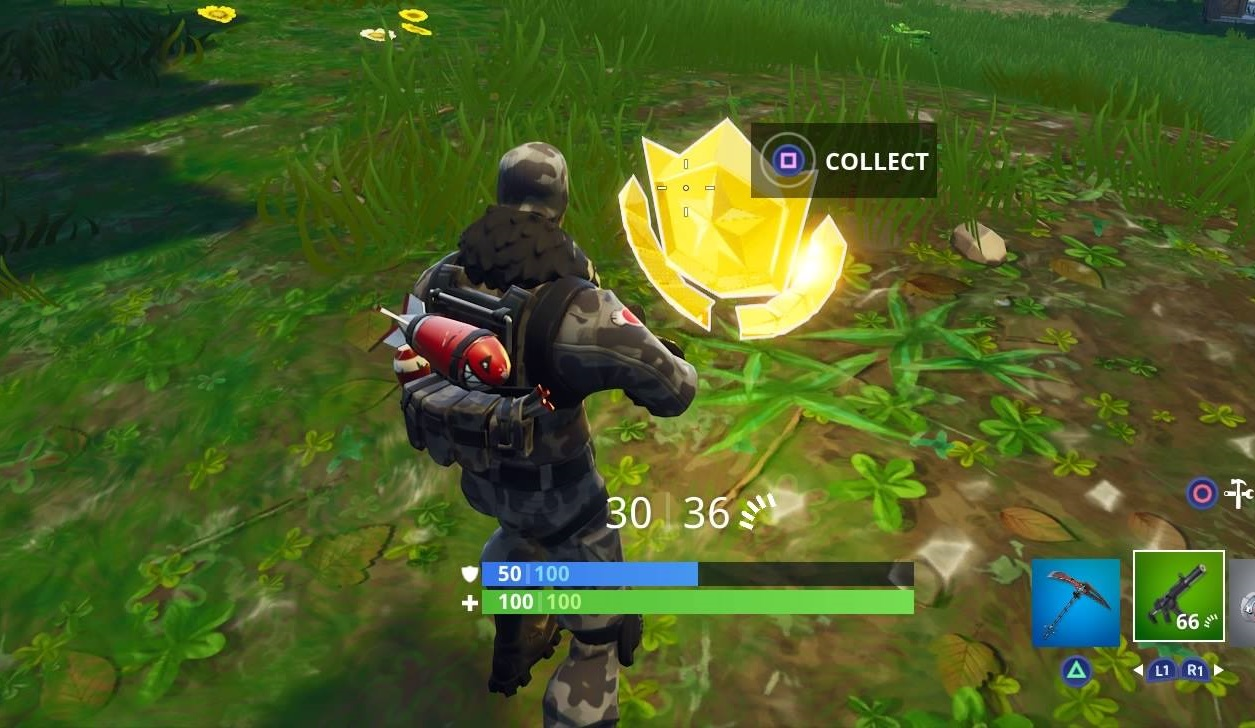 Fortnite Where To Search Between A Vehicle Tower Rock Sculpture