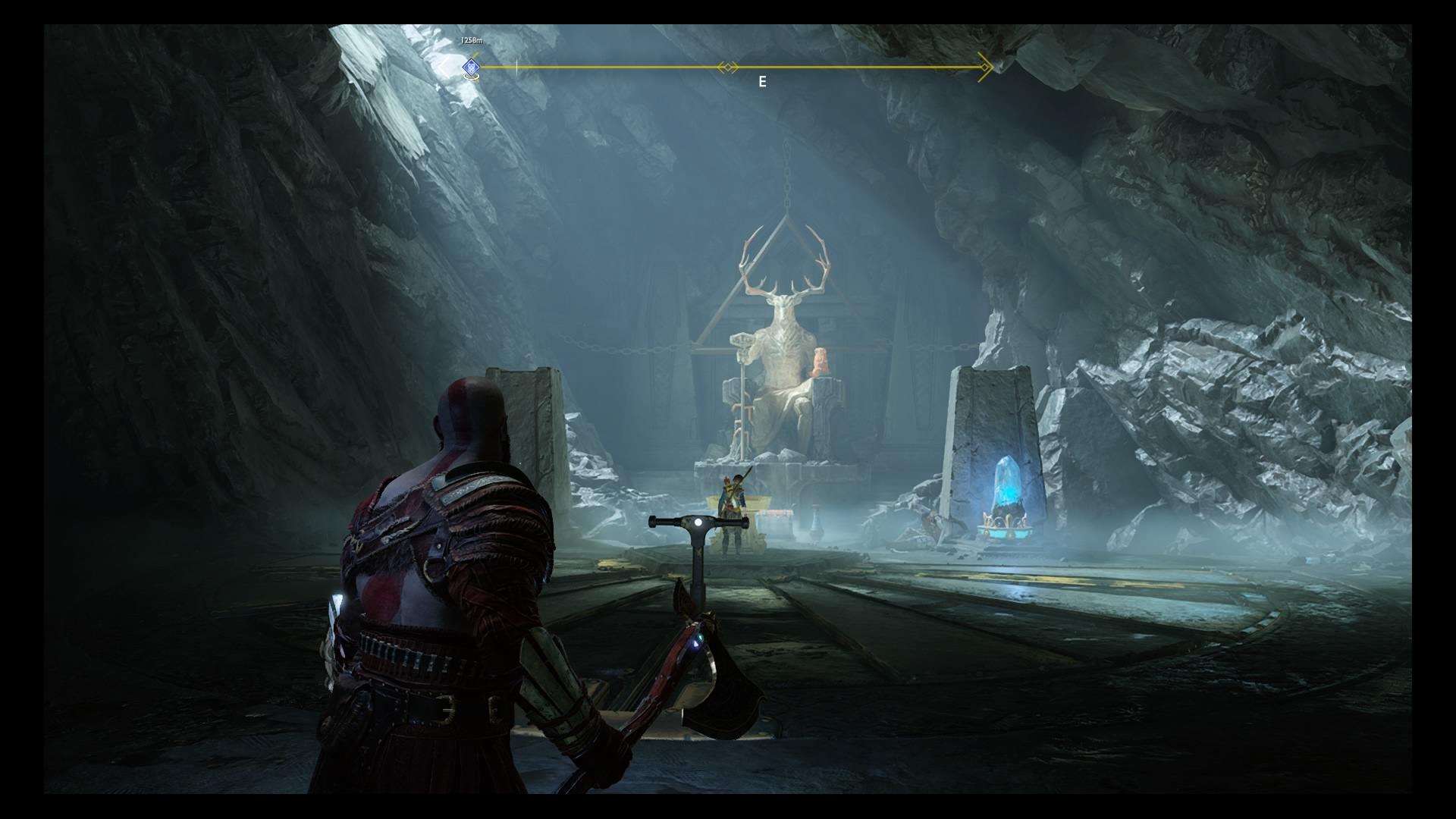 God of War Inside the Mountain quest: Deer Head Statue, Heart of the