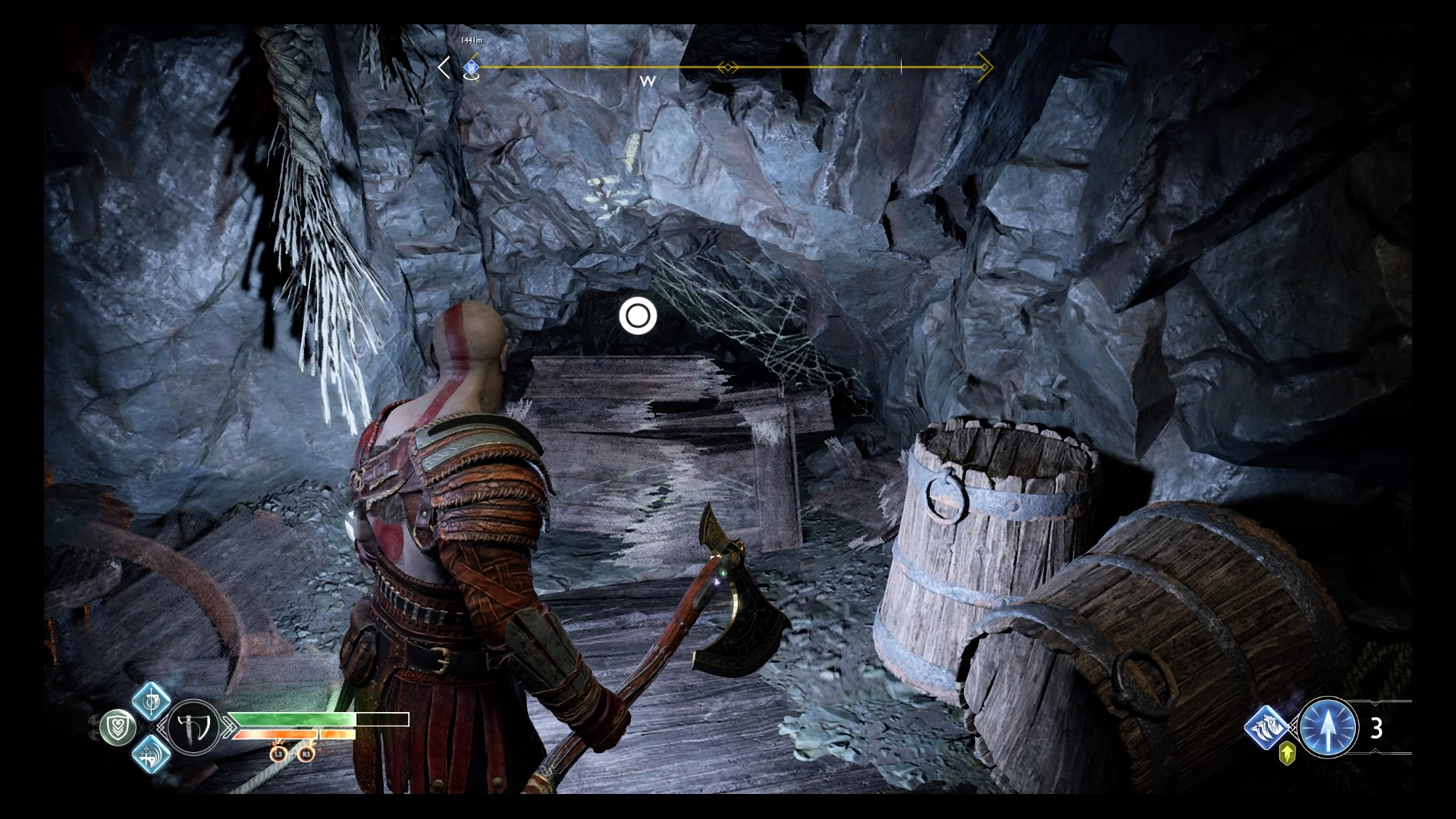 God of War Inside the Mountain quest: Deer Head Statue