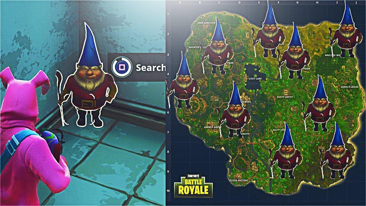 gnome locations fortnite