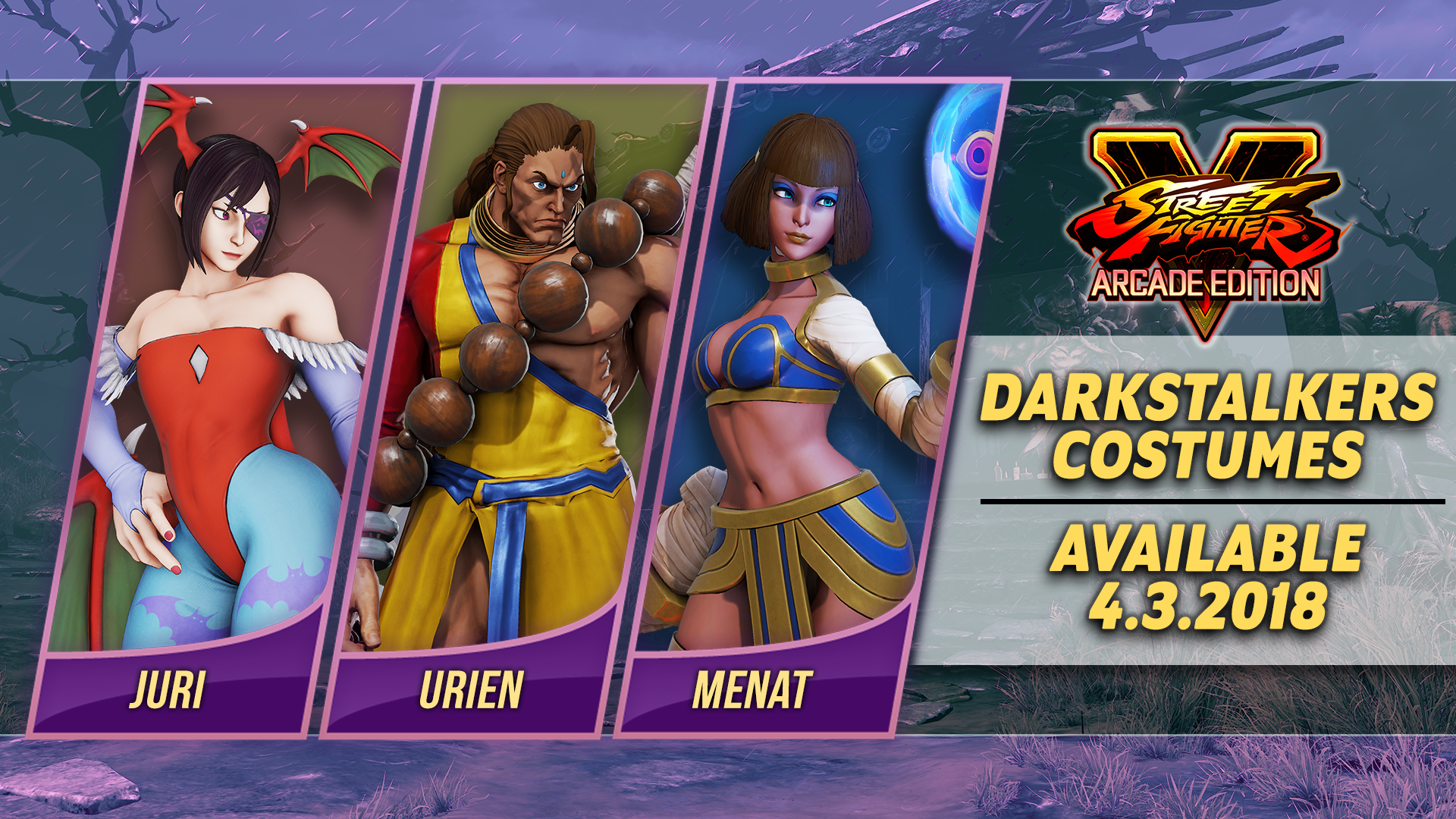 Darkstalkers Costumes And Major Balance Changes Hit Street Fighter 5