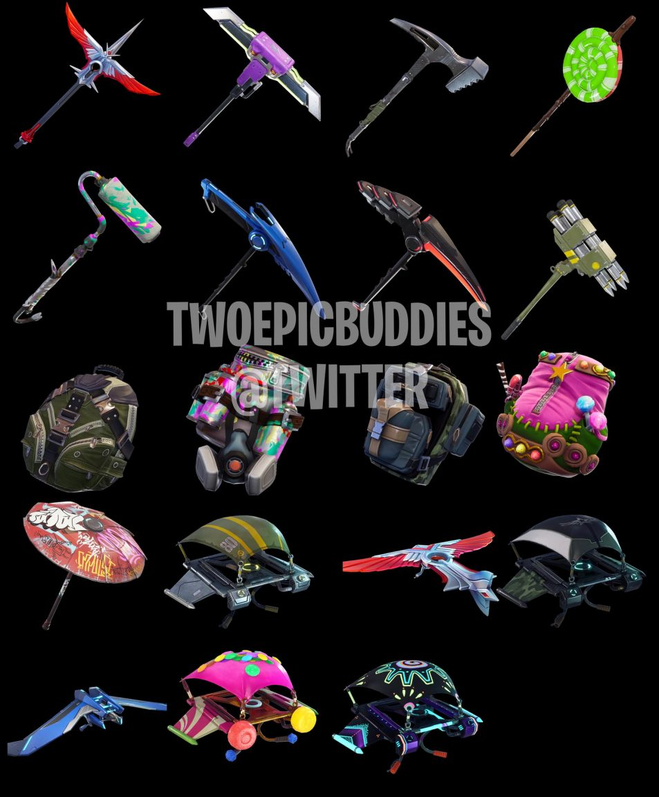 Fortnite leaked skins, back bling and axes reveal more new