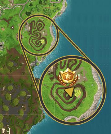 Fortnite Salty Springs Treasure Map Location Vg247