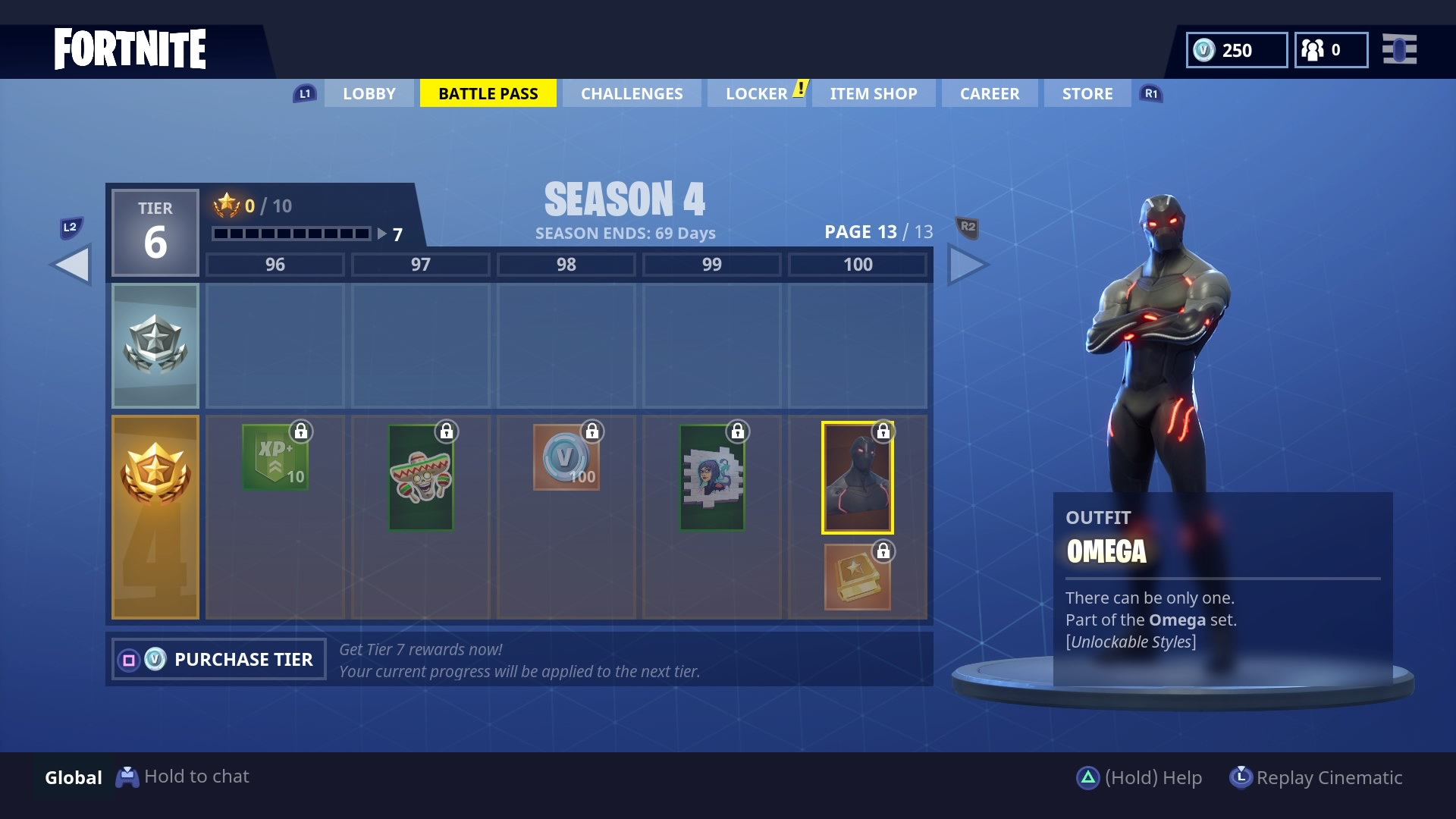 Fortnite Omega Skin What Are The Tier 100 Omega Skin Challenges