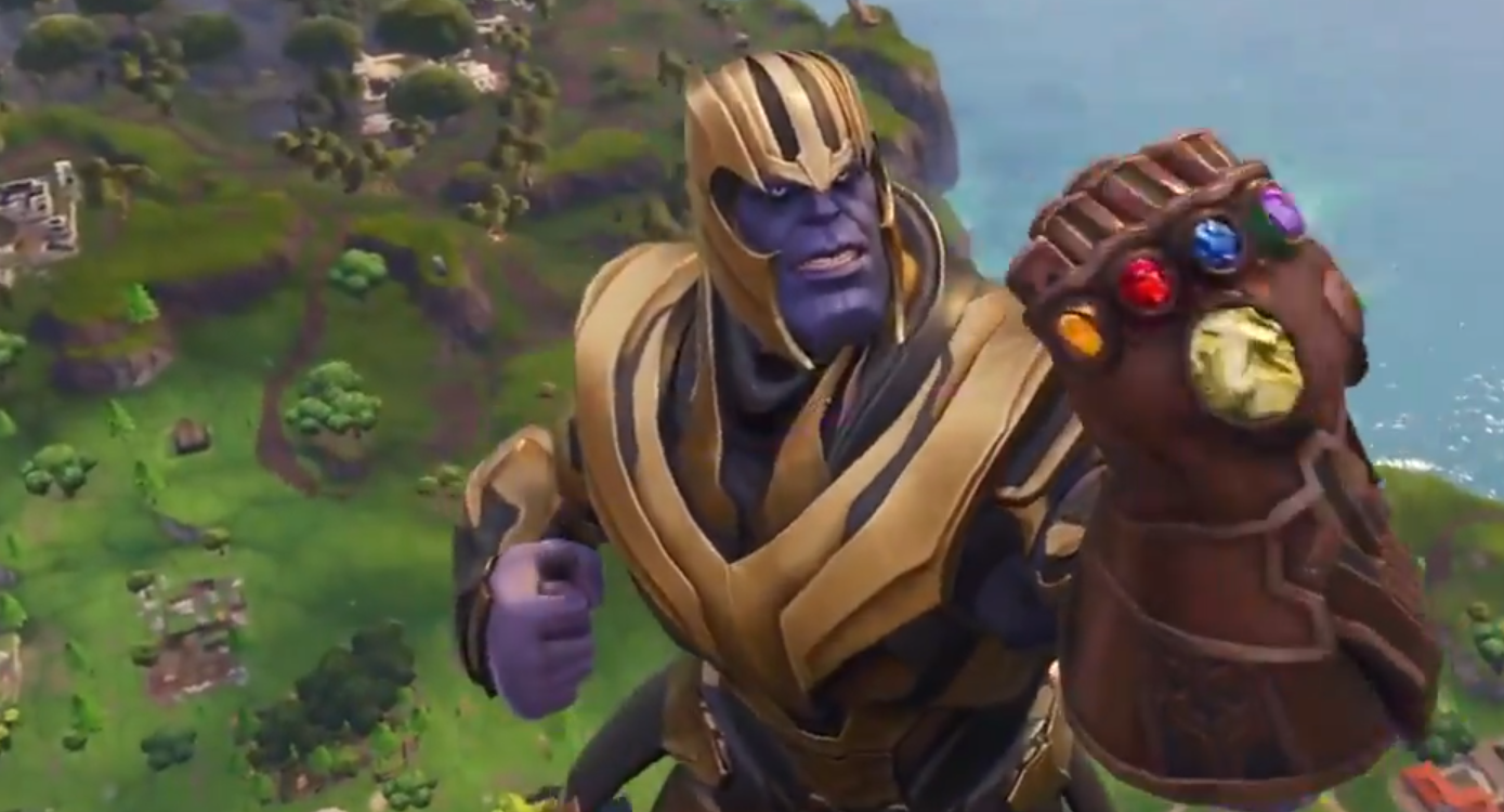 Fortnite Battle Royale A First Look At Thanos In Action Vg247