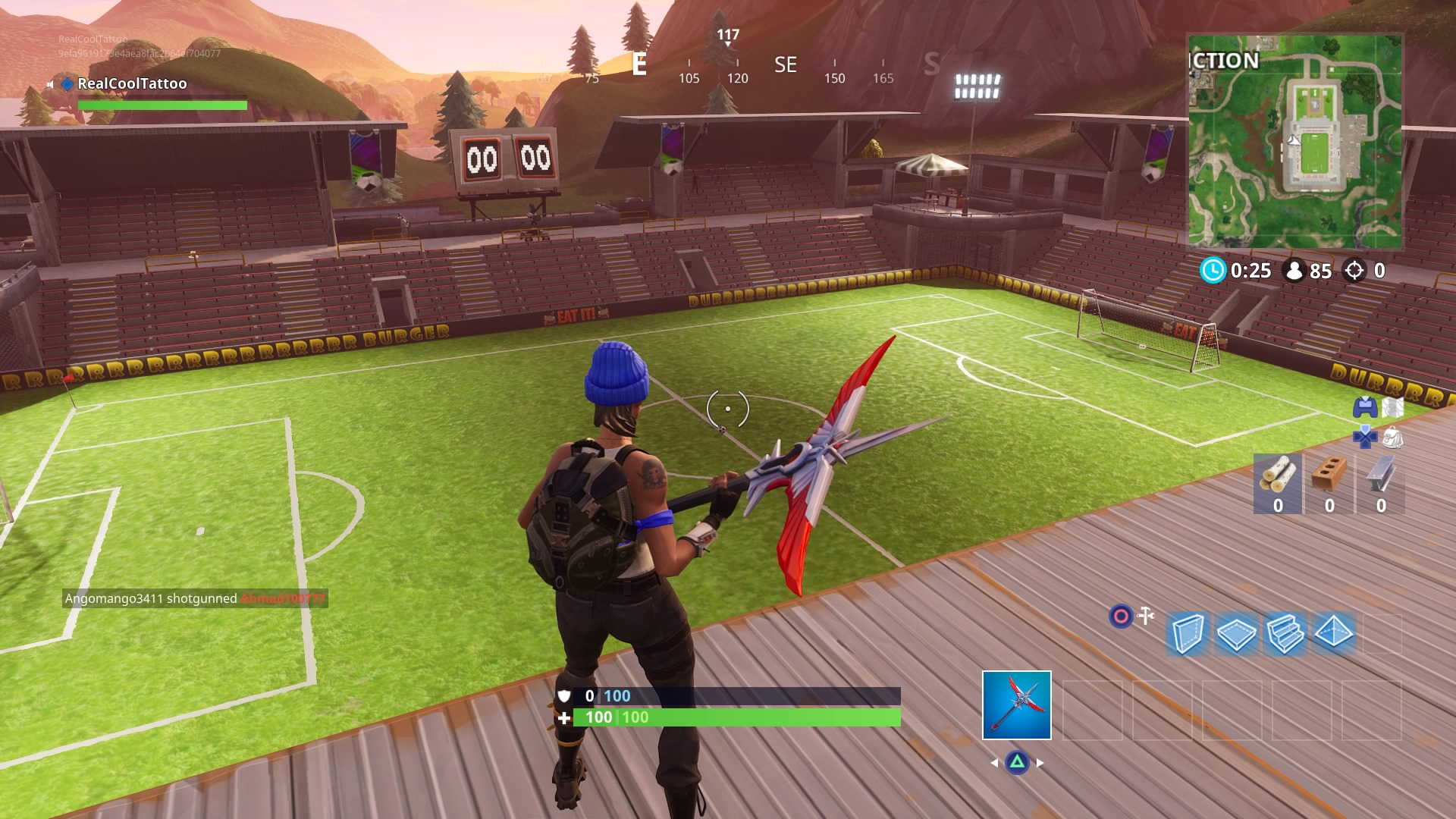 fortnite score on different pitches where to find all the football soccer fields in fortnite vg247 - fortnite stade de foot