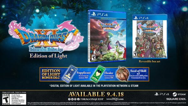 Dragon Quest XI's Edition Of Light And Edition Of Lost Time Revealed