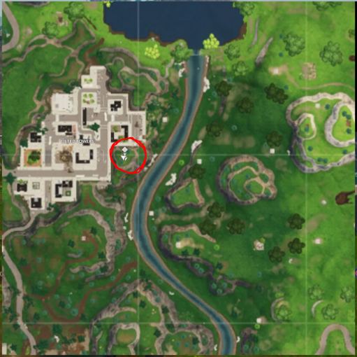 Fortnite: Pleasant Park Treasure Map Location (Season 4)