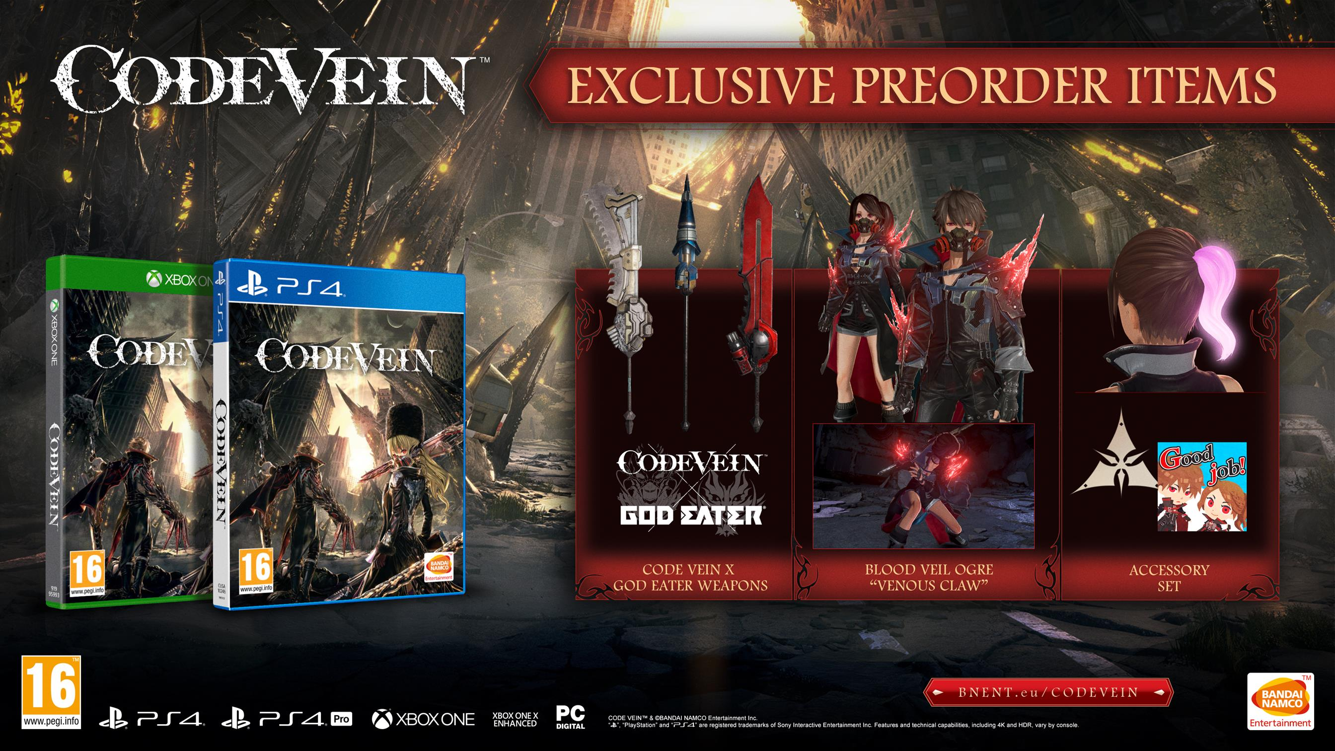 Anime Souls-like Code Vein comes out this autumn