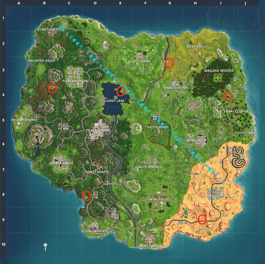 Fortnite Shoot A Clay Pigeon At Different Locations Where Are All