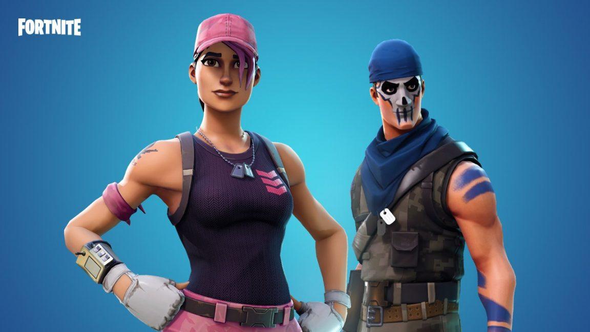 Free Fortnite skins: Warpaint and Rose Team Leader handed