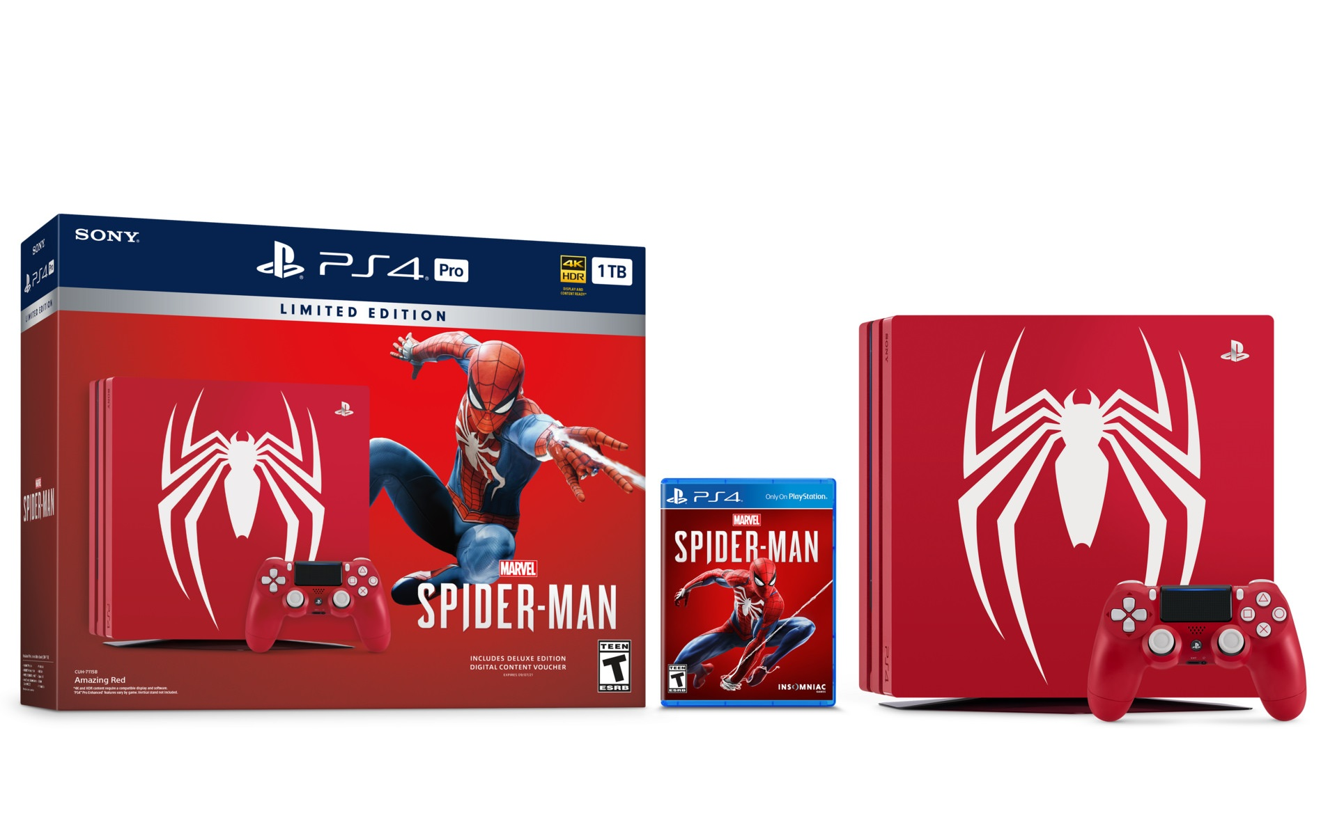 Spider-Man PS4 story and Velocity Suit reveal trailers, PS4 Pro limited edition announced