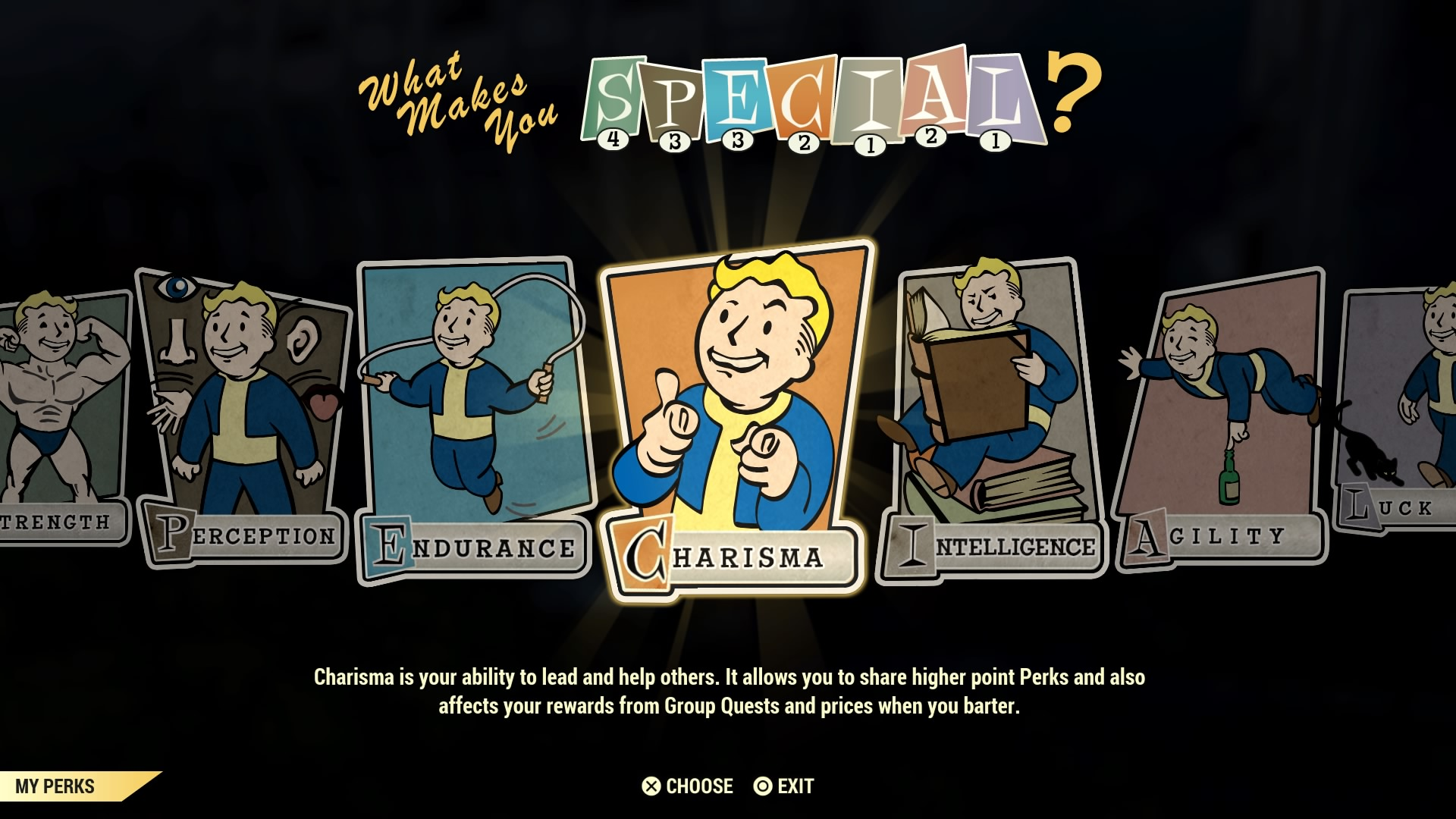 Fallout 76 perks: Mysterious Stranger, Bear Arms, Green Thumb - all