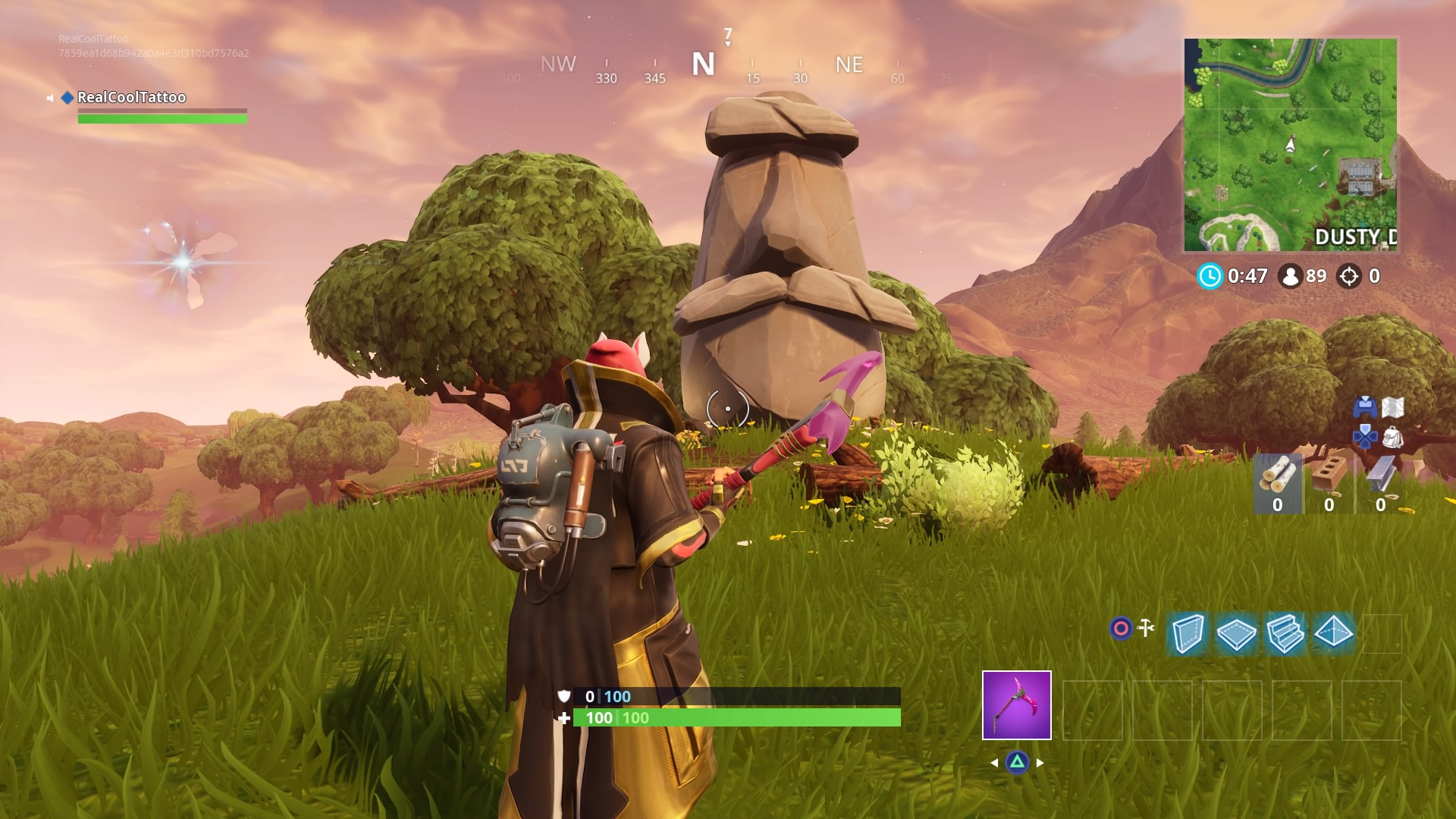 - where the stone heads are looking fortnite