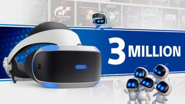 Sony has sold three million PlayStation VR headsets since launch