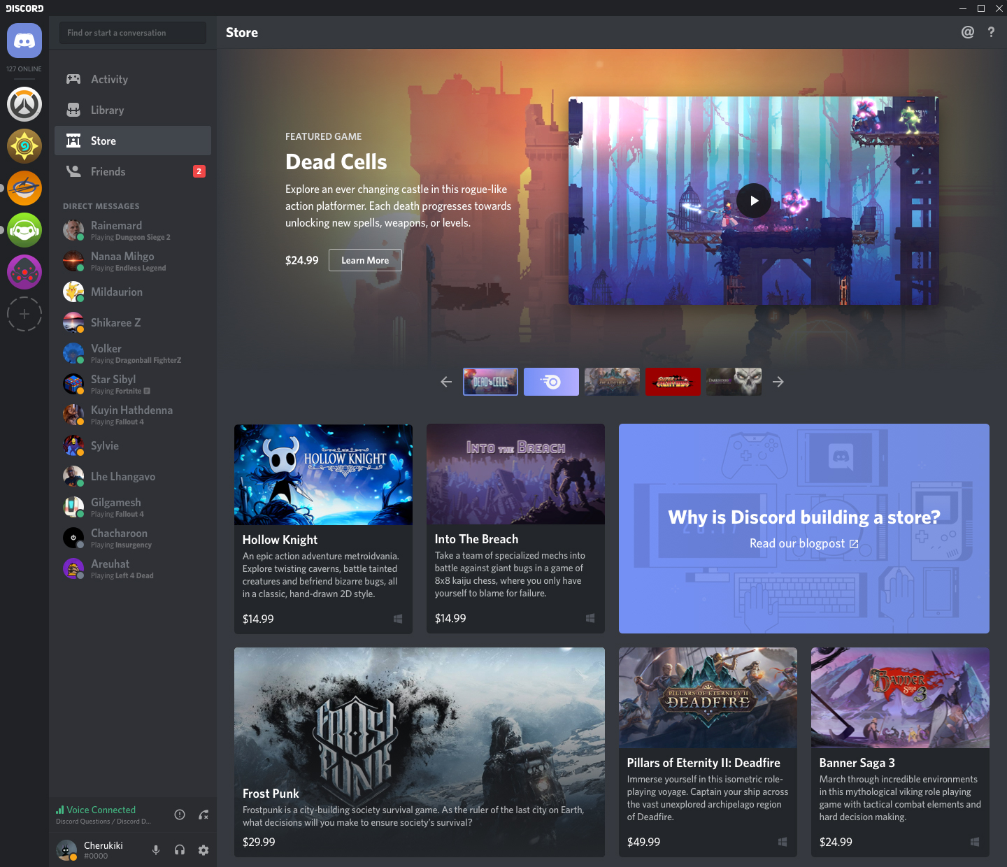 Discord launches app store with major games, indies and exclusives
