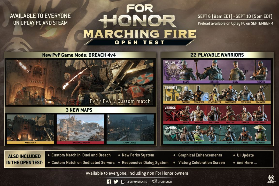 For Honor: Marching Fire open PC test