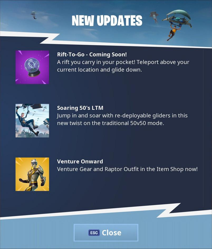 Fortnite S Newest Item Is The Rift To Go Vg247