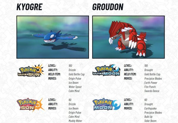 Legendary Pokemon Kyogre And Groudon Now Available For Pokemon Sun