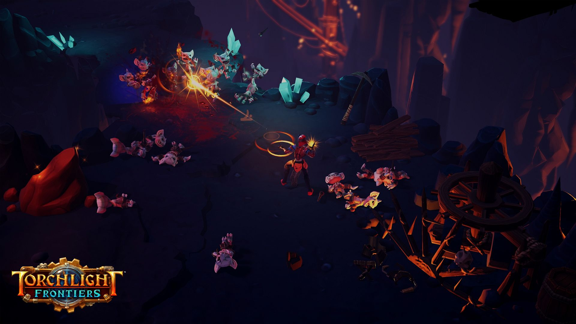 Torchlight Frontiers gameplay video shows familiar mechanics