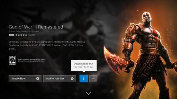 It's possible to download 'most' PS4 and PS2 games in PlayStation Now