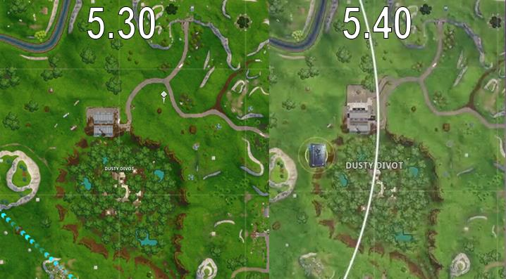 Fortnite S Dusty Divot Is Seemingly Getting Changed Again With Patch