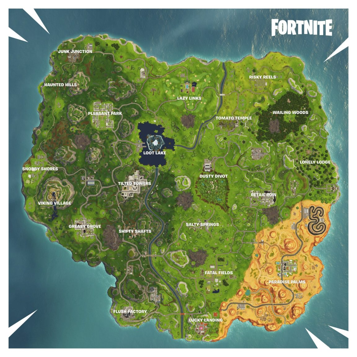 here s all the changes to fortnite s map for season 6 vg247