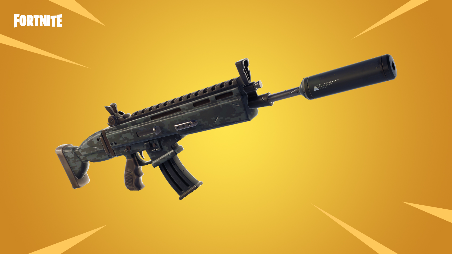 fortnite suppressed assault rifle added drum gun heads to the