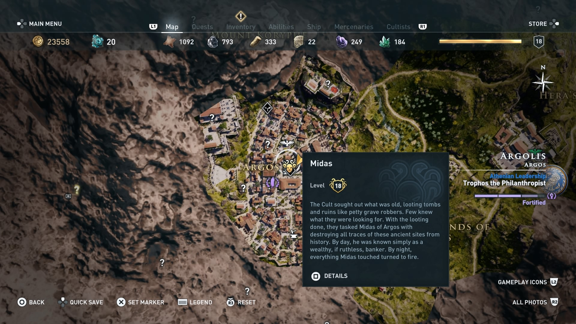 assassins creed odyssey cultist map