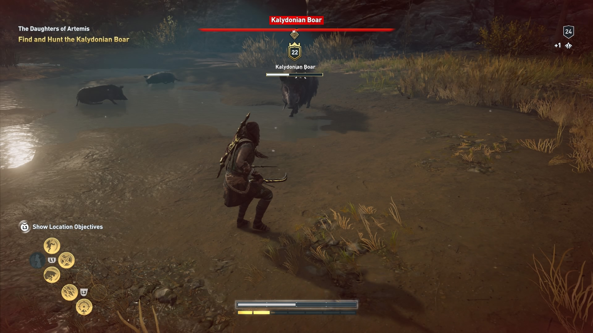 Assassin S Creed Odyssey How To Kill Kalydonian Boar Hind Of