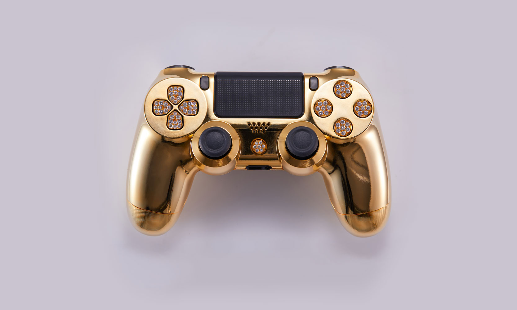 Lux DualShock 4 Gold Plated Diamond Encrusted Controller