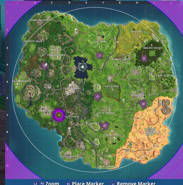 fortnite season 6 weekly challenges - fortnite challenge map season 6