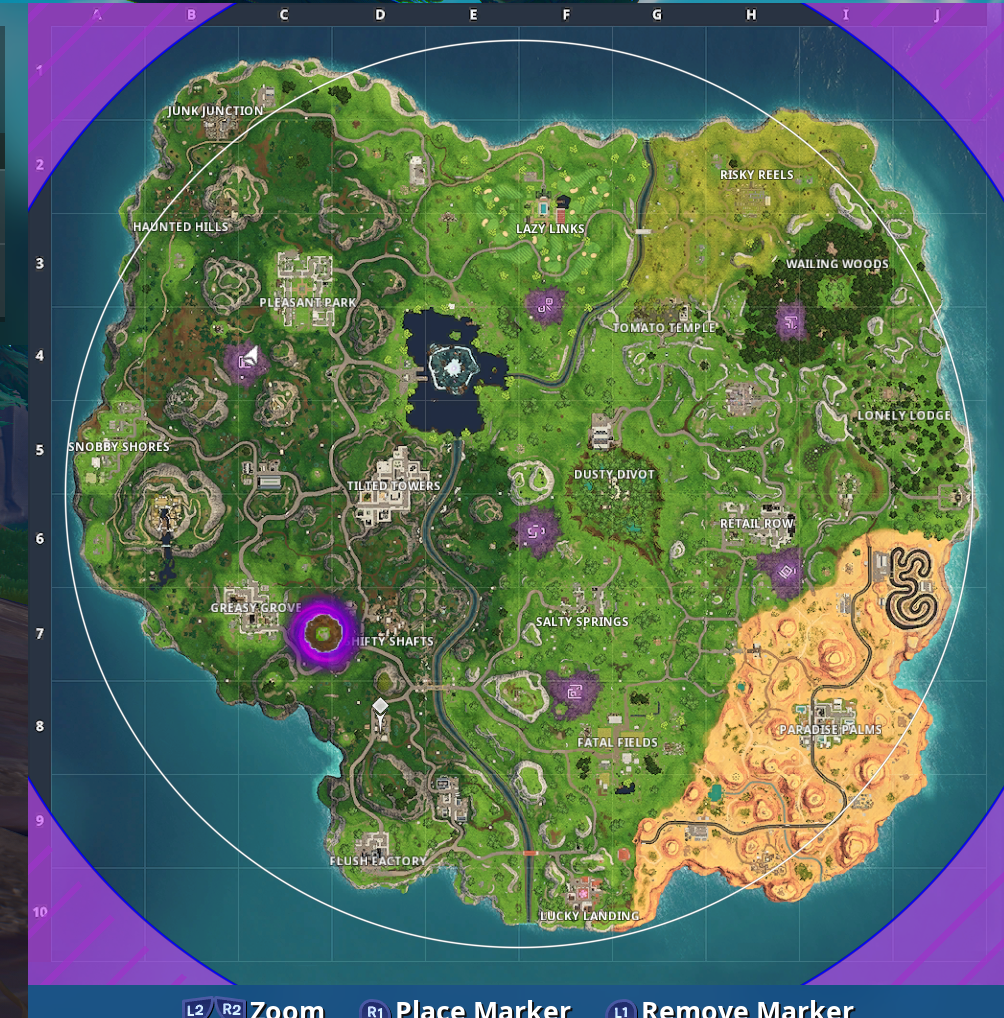 Fortnite Season 6 Visit All Of The Corrupted Areas Vg247
