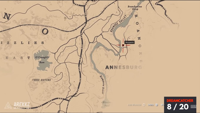 red dead redemption 2 dreamcatchers map