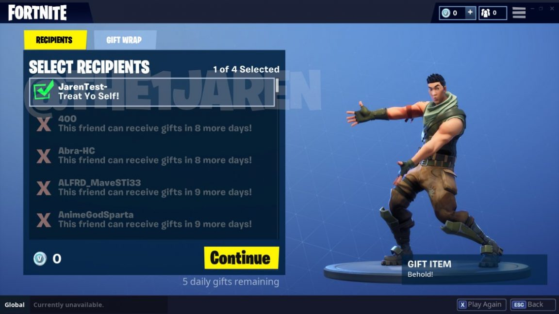 Fortnite Gifting Could Be Coming Very Soon Vg247