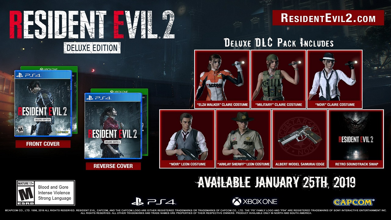 Resident Evil 2 Deluxe Edition includes retro soundtrack and