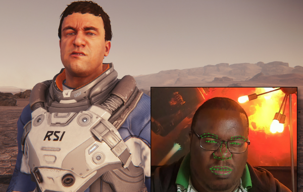 Star Citizen alpha 3 3 lets your character mimic your facial