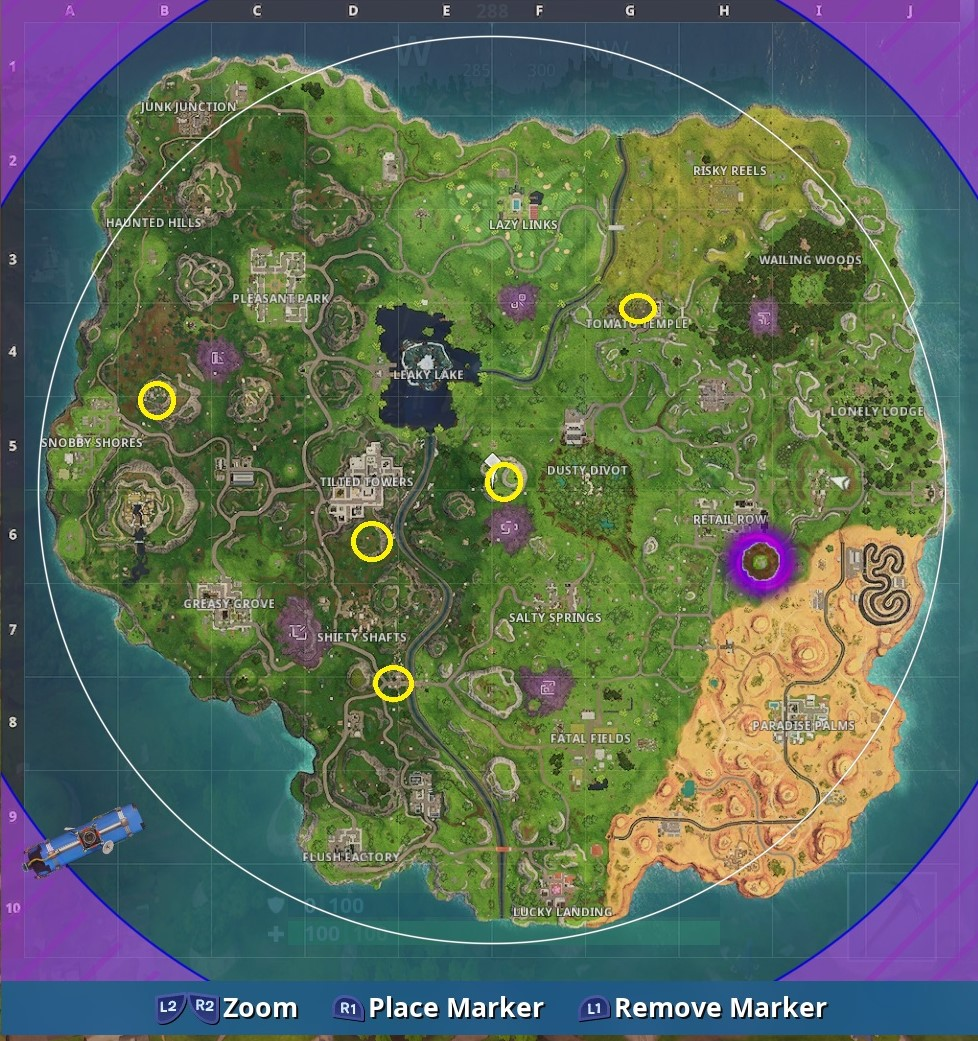 Fortnite Timed Trials Locations Vg247