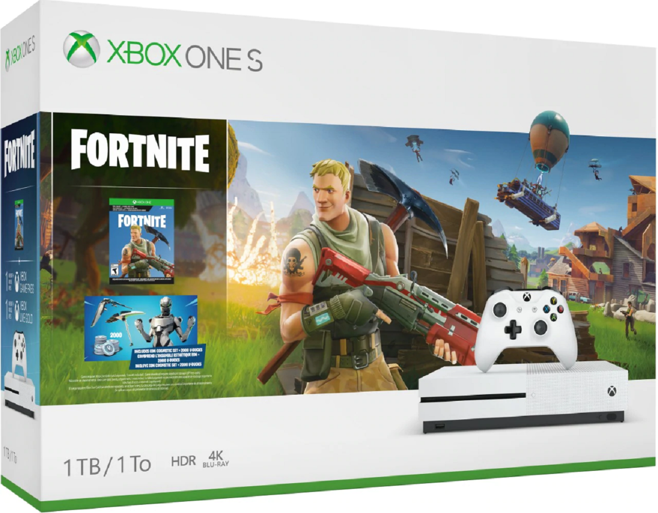 Black Friday Deal Xbox One S 1tb Fortnite Bundle With Red Dead Redemption 2 For 140 Vg247