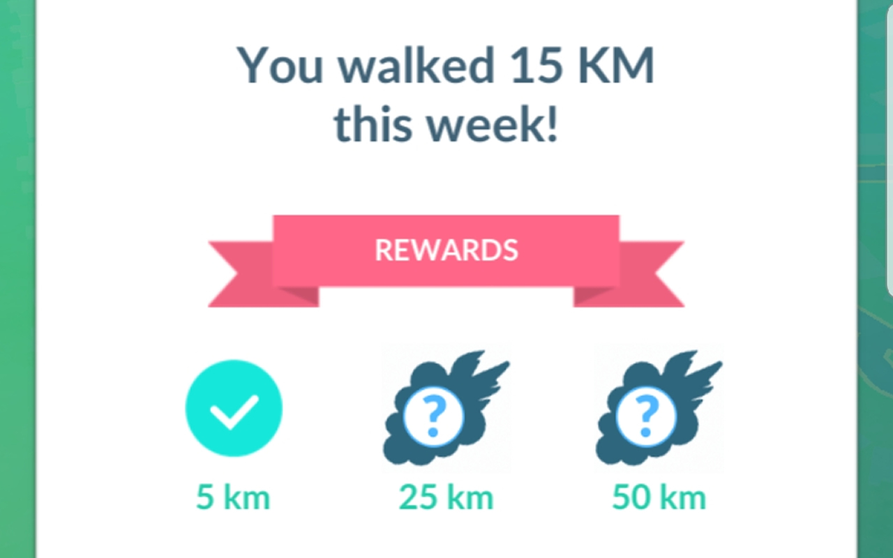 Pokemon Go Adventure Sync: walking rewards, weekly rewards